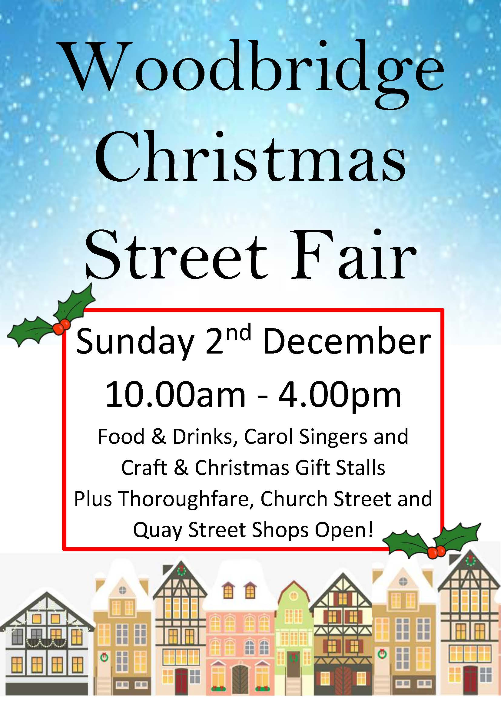 Woodbridge Christmas Street Fair - 2nd December - Choose Woodbridge