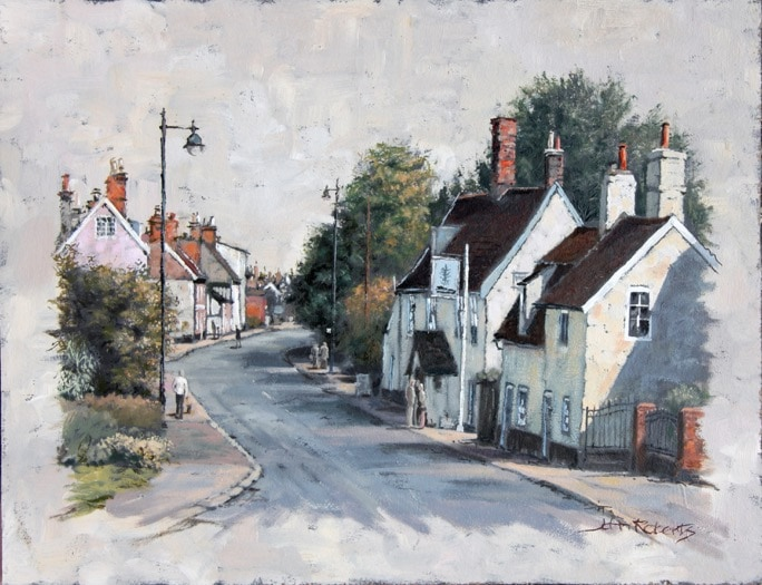 The Approach to Woodbridge - painted by John Roberts