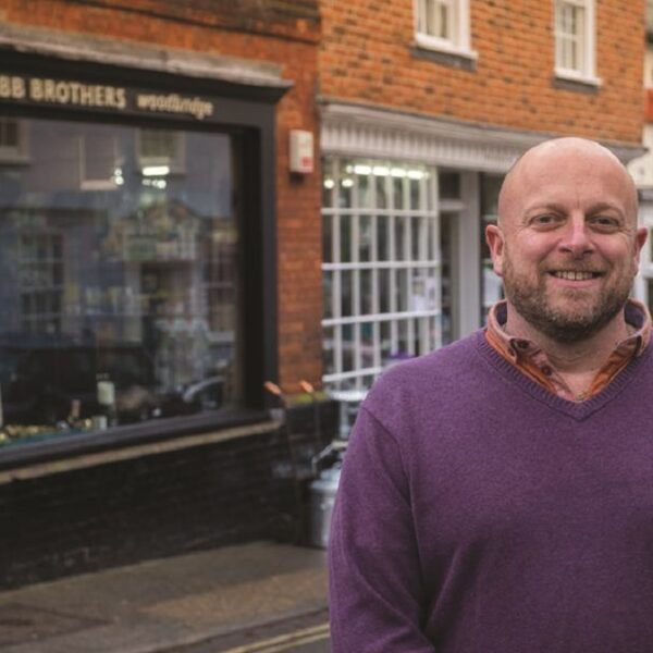 Mark Willis outside Webb Brothers