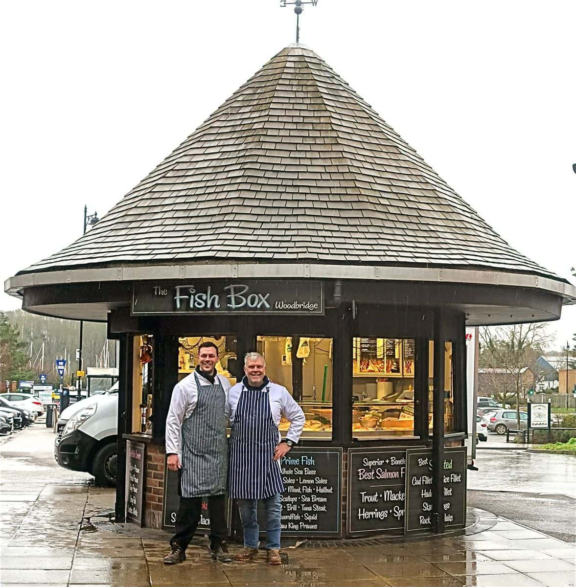 Laurie and Paul Newberry outside The Fish Box